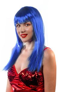 Picture of SMOOTH BLUE LONG HAIR WIG