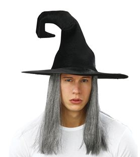 Picture of CROOKED WITCH HAT WITH HAIR