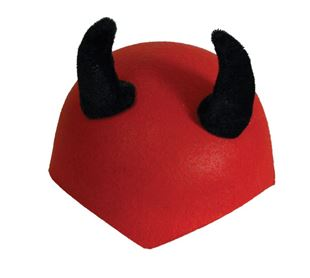 Picture of DEVIL'S CAP WITH BLACK HORNS