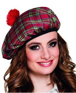 Picture of BERET MRS TARTAN RED