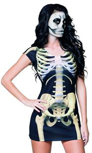 Picture of PHOTOREALISTIC DRESS SKELETON GIRL