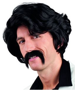 Picture of WIG CHUCK BLACK WITH MUSTACHE