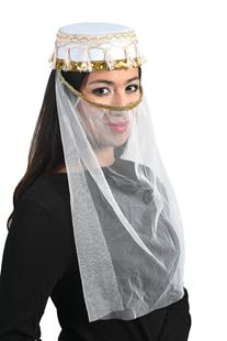 Picture of HAREM CAP WITH VEIL, WHITE
