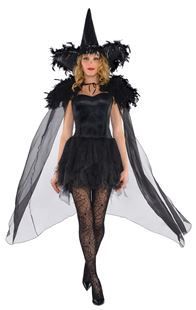 Picture of Ladies' Feathered Cape Witch